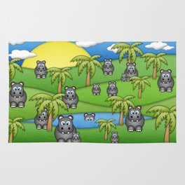 Hippos. Rug