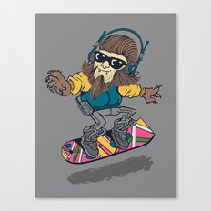 teen wolf on a hover board Canvas Print