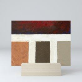 Textured Cubism -Modern Art - Color Blocking Art - Hospitality Art - Corbin Henry Mini Art Print