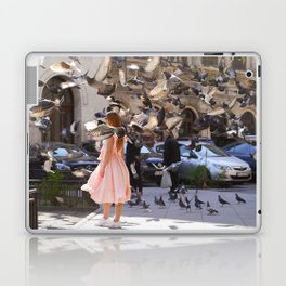 The Girl with Doves Laptop & iPad Skin