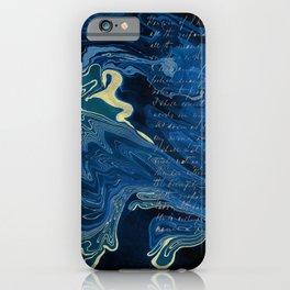 Lapislazuli and Gold #Society6 #decor #buyart iPhone Case