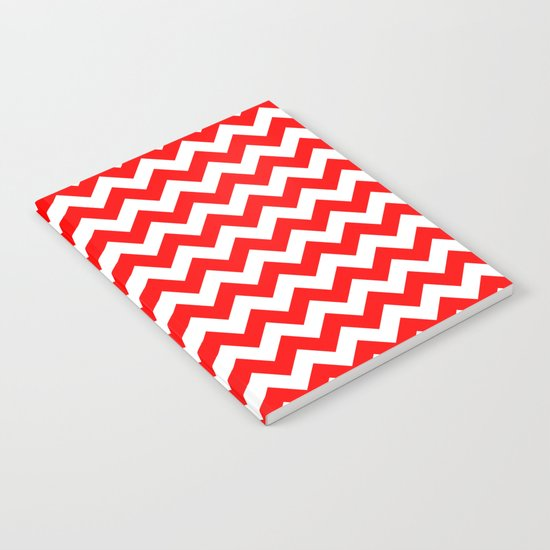 Chevron (Red/White) Notebook