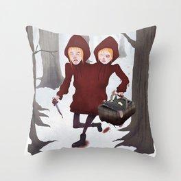 Red Riding Hoods Throw Pillow