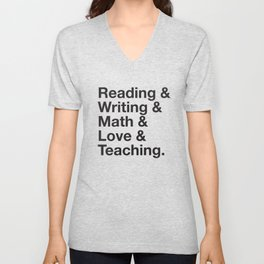 Love Teaching Unisex V-Neck