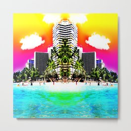 Waikiki Beach Reflection part III Metal Print