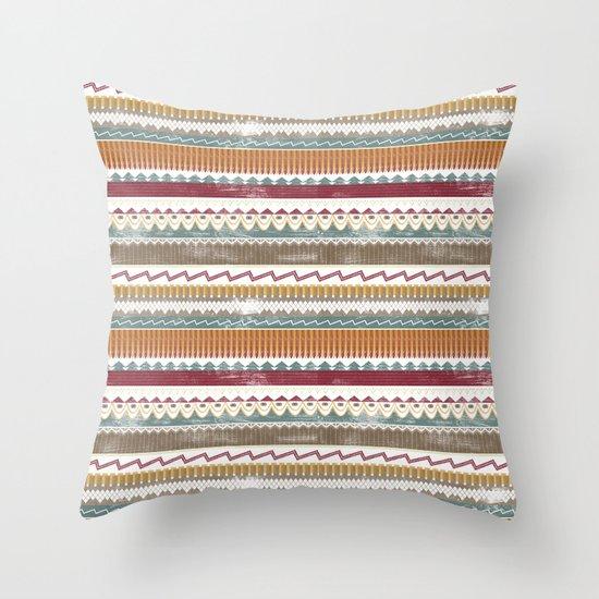 AZTEC STRIPES Throw Pillow