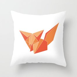 "Collection ""Origami"" impression ""Fox Paper"" Throw Pillow"