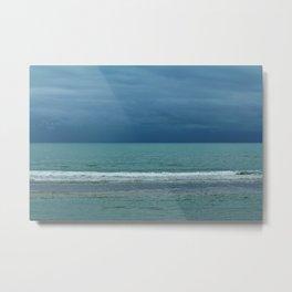 Cloudy Sea At Night Metal Print