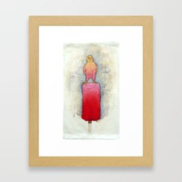 Watermelon Canary Popsicle Framed Art Print