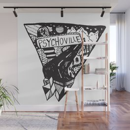 Psychoville black ink drawing Wall Mural