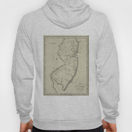 Vintage Map of New Jersey (1794) Hoody
