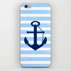 AFE Nautical Blue Ship Anchor iPhone & iPod Skin