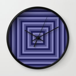Blue Squares Wall Clock