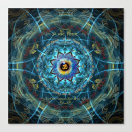 """Om Namah Shivaya"" Mantra- The True Identity- Your self Canvas Print"