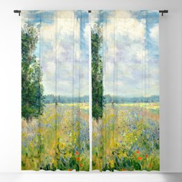 "Claude Monet ""Poppy Field, Argenteuil"" Blackout Curtain"