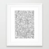 city Framed Art Prints featuring Isometric Urbanism pt.1 by Herds of Birds
