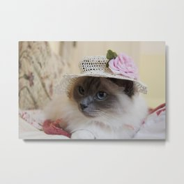 Easter Cat Metal Print