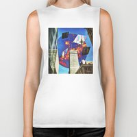 montreal Biker Tanks featuring Gateway To Montreal by Mathieu LaBerge