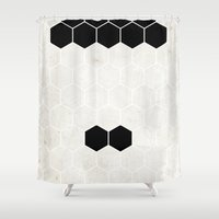 chaplin Shower Curtains featuring Chaplin by Alexandre Reis