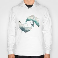 whales Hoodies featuring whales by Chebhead
