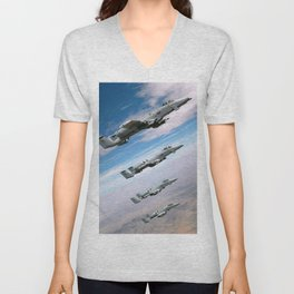 BEAUTIFUL AIRPLANE FORMATION Unisex V-Neck