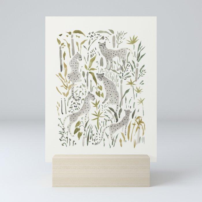 Grey Cheetahs Mini Art Print