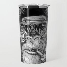 Monkey glasses Travel Mug