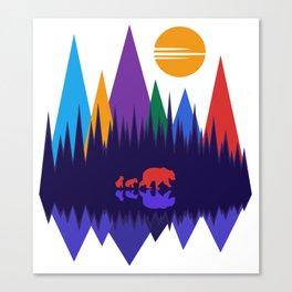 Bear & Cubs #4 Canvas Print