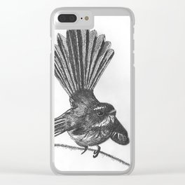 New Zealand fat fuzzy fantail Clear iPhone Case