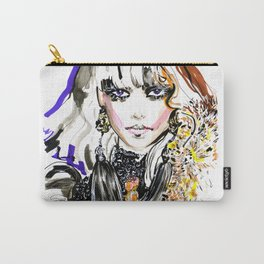 Fashion illustration yellow blue markers Carry-All Pouch