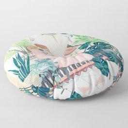 Urban garden apt Floor Pillow
