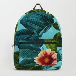 Tropical flowers Hawaii Backpack