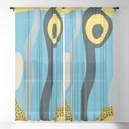 Tropical fish 4 Sheer Curtain