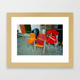 GUARD CHAIRS Framed Art Print