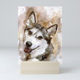 Tika'ani our Siberian Husky Mini Art Print
