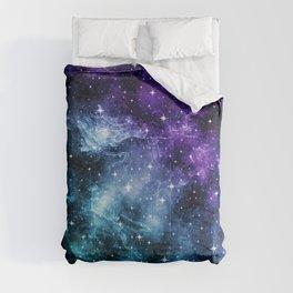 Purple Teal Galaxy Nebula Dream #1 #decor #art #society6 Comforters