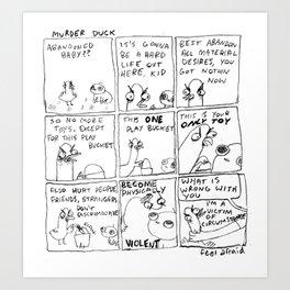 Murder Duck Art Print