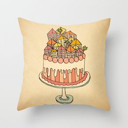 Cake Town Throw Pillow