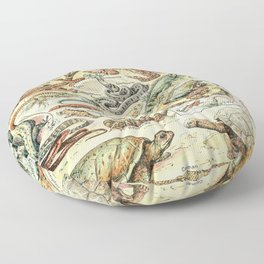 Reptiles II by Adolphe Millot // XL 19th Century Snakes Lizards Alligators Science Textbook Artwork Floor Pillow