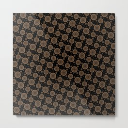 Brown and golden mandala Metal Print