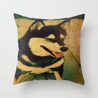 best friend Throw Pillows featuring Best friend by Truly Juel