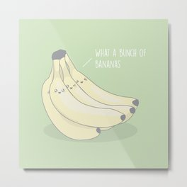 Bunch Of Bananas #kawaii #fruit Metal Print