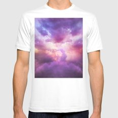 The Skies Are Painted MEDIUM White Mens Fitted Tee