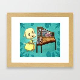Animal Crossing Pocket Camp - Goldie Framed Art Print