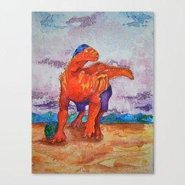 Beach Ball Dinosaur - Barney Canvas Print