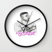 kendrick lamar Wall Clocks featuring Kendrick by Arron Davis