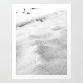 Snow Close up // Winter Landscape Powder Snowing Photography Ski Snowboarder Snowy Vibes Art Print