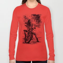 Biker Girl Long Sleeve T-shirt