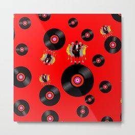 Rockstar on Vinyl Metal Print