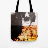 shining Tote Bags featuring Shining by Lama BOO